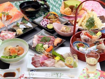 【グレードアップ】和牛のポアレ&鮮魚の寿司付■元ホテルシェフが振るう本格会席料理