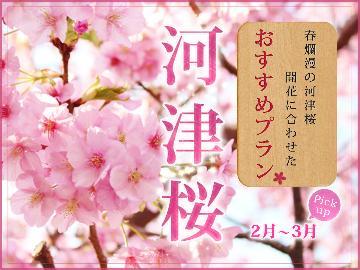 【桜の舞】今年もやってきました◆河津桜を特別な会席と共に楽しむ・。*【1泊2食付】ー特典付ー