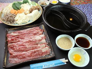 全ての和牛の生みの親『但馬牛』のすき焼き&しゃぶしゃぶの究極2食鍋!!