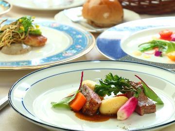 【2食付★シェフ厳選フレンチ】 フジザクラポーク&清らかな水で育った野菜と魚のハーモニーを楽しむ♪