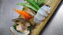 常陸鍋(夏)ホッキ貝と地魚のしゃぶしゃぶプラン