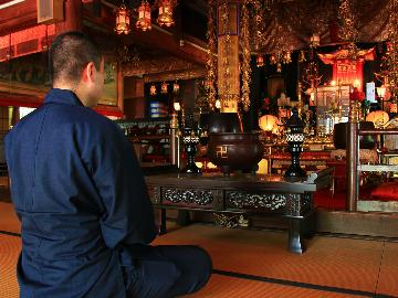 【体験・お部屋食二食付き】宿坊ならでは!瞑想や写経などから選べる「お寺体験」※体験料金が別途必要です