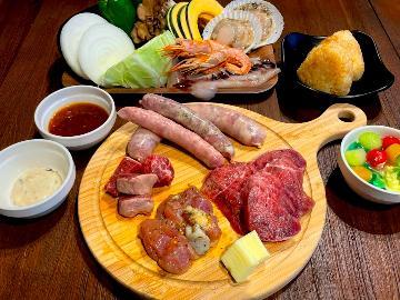 ★BBQ3,000円コース★【食材付き】贅沢ステーキ&海鮮をBBQで楽しむ!※BBQ用品無し