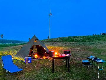 【温泉キャンプ】天然温泉施設でフリーキャンプを楽しもう♪海で遊んで、キャンプして!温泉でサッパリ♪
