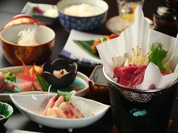 <すきやき鍋ミニ会席☆2食付>み~んな大好きすき焼き鍋と大山観光を満喫♪