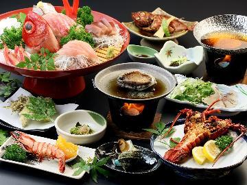 デラックス◆ 伊勢海老&アワビコース ◆調理法チョイス!期間限定★豪華食材満喫-2食付-