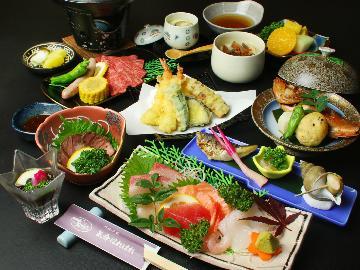 【夕食のみ★定番一押し会席】夕食は個室で♪日本海の味覚をお腹いっぱい召し上がれ♪