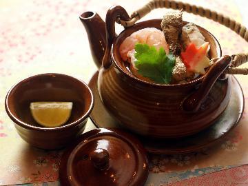<GoToトラベルキャンペーン割引対象>【シェフのIPPIN】旬の厳選食材~10月は松茸の土瓶蒸し&釜飯で贅沢な香りを楽しむ~