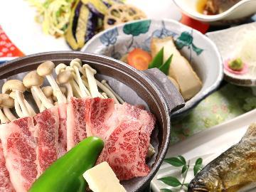 【グレードアップ】ちょっと贅沢に♪お肉好きの方へオススメ!鮎の塩焼き&和牛陶板焼きを召し上がれ♪