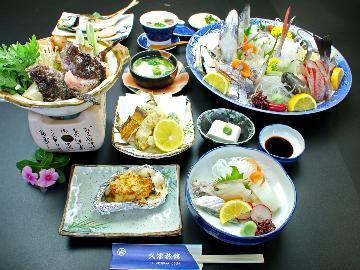 【舟盛り付き会席】紀州★由良の活魚三昧!旨いもの食べつくしグレードアッププラン