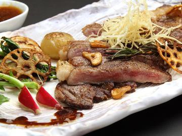 【地元産ステーキ】メインは栃木県産のステーキを創作料理と一緒に…ごゆっくりお寛ぎいただけます