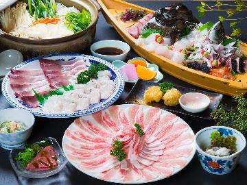 【季節限定】名物「おこぜ」と一緒にしゃぶ鍋を!贅沢上級鍋コース♪【ーしゃぶ鍋・上級】