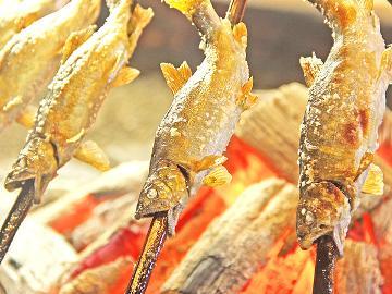 <GoToトラベルキャンペーン割引対象>≪スタンダード≫囲炉裏で食す【一番人気・鮎】料理会席プラン・・・清流 揖斐川で育つ鮎を堪能あれ♪