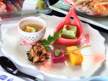 <GoToトラベルキャンペーン割引対象>【旬の味覚】季節の旬の食材をふんだんに使った♪贅沢に堪能できる~1泊2食付き