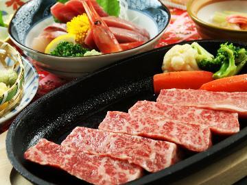 ご当地食材!【はなわ牛】でちょっと贅沢に・・・和牛サーロインステーキと歴史ある名湯でリラックス♪[1