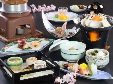 【リーズナブル】女性&シニアに好評◆夕食は品数控えめのヘルシー会席《-hibiki-響》♪
