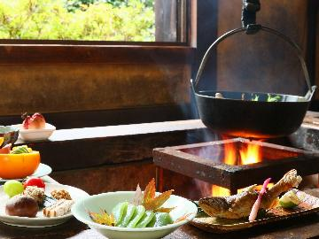 スタンダード◆炉端でいただく山梨名物ほうとうと山里料理<1泊2食付>