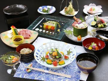 グレードアップ◆夏の膳◆五感で楽しむ、贅沢会席。茨城ブランド『常陸牛』を食す