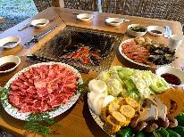 【グレードアップBBQ】豪華『焼き蟹&焼きイカ』が付いた!海の幸×高原野菜×和肉!贅沢BBQプラン!