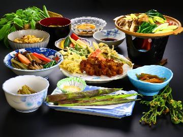 【期間限定/2食付】春の味覚☆山菜好き集まれ~♪アク抜き山菜のお土産付き