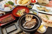【美食三昧】2種鍋チョイス×鮑踊り焼き欲張りプラン[1泊2食付] 『お食事は個室で』