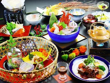 秋限定会席《楓-kaede-》伊勢海老、和牛ロースト、松茸…高級食材と秋の味覚を堪能!