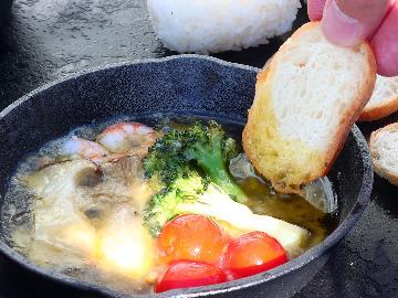 【BBQコース】アヒージョが人気!食材は宿で用意★手ぶらでバーベキューを満喫♪