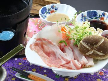 【湯西川では唯一のペット宿】那須豚しゃぶしゃぶと源泉かけ流しの湯を満喫♪1泊2食付<GoToトラベルキャンペーン割引対象>