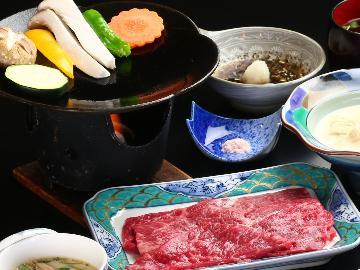 《1日3組限定》【スタンダード2食付】とろける甲州牛陶板焼き×虹鱒料理 ワンランク上の贅沢《ツインルーム》