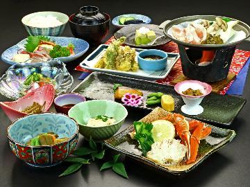 【グレードアップ会場食】ちょっと贅沢に…選べる一品≪カニor陶板焼きステーキ≫!ゆったり楽しむ温泉旅