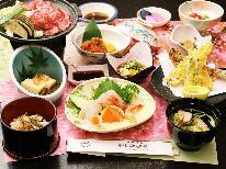 【花見山-hanamiyama-】 摺上川を見下ろすお部屋と国産和牛のあつあつ陶板焼き♪天然温泉でゆっくり癒し旅