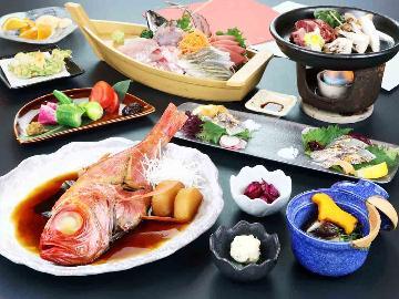 <GoToトラベルキャンペーン割引対象>2食付◆ 下田産金目鯛&国産肉!素材にこだわった本格手作り和食★
