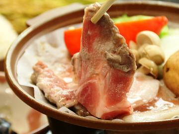 【信州ブランド肉Sプラン】 白馬SPF豚の陶板焼♪女将の手料理を楽しむスタンダードプラン一泊二食付き