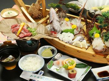 【舟盛会席】ちょっぴりグレードアップ☆彡~伊勢海老・旬の魚を贅沢に~
