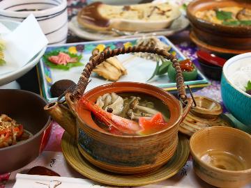 【2食付】冬限定3大特典付!山菜&きのこの特製寄せ鍋プラン★あいべつの冬を楽しもう☆個室食