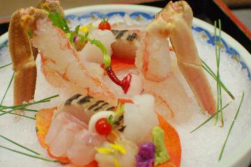 幻の蟹を食す!活松葉がに満喫プラン【乙姫コース】