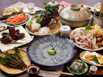 日間賀島の恵み【ふぐグレードアップ】豪華ワタリ蟹または伊勢海老のタルタル焼き・車海老もついてくる♪