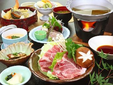 【2食付き】選べるご馳走割烹料理プラン◆国産霜降り豚しゃぶor駿河湾の海幸◆好きな方を選んでね♪