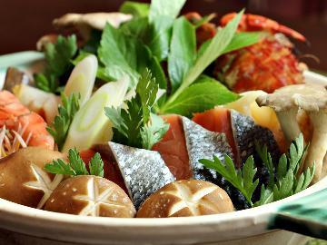 旨味、染み渡る!冬のイチオシ★気仙沼の幸満載のあったか海鮮寄せ鍋で海の恵みを食べ尽くそう≪1泊2食≫