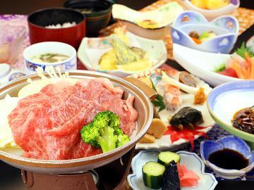 【特選】福島牛を堪能!!季節の素材満載な和食膳と源泉かけ流しの大露天風呂で温泉を満喫♪