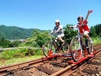 自転車と廃線後の鉄路を組み合わせた新感覚アクティビティ「Gattan Go!!」で遊ぶ♪※要別途予約