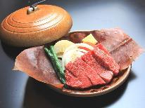 【ステーキ】ぶ厚い飛騨牛をジュージューお好みの焼き具合で♪古民家で飛騨の味と温泉三昧《1泊2食付》