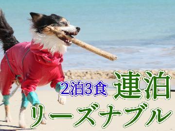 【現金特価】◆2泊3食◆1泊目夕食なし★愛犬とゆったりステイ♪連泊プラン【お部屋食orレストラン食】