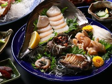 【選べるメイン♪】鮑含む貝尽くしor伊勢海老!新鮮な海の幸会席ランクUPコース☆ー2食付(A)ー