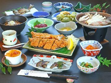 【まんぷくプラン】会津の郷土料理と旬の逸品◇心も身体も満たされる一番人気《福島県民割プラス割引対象》