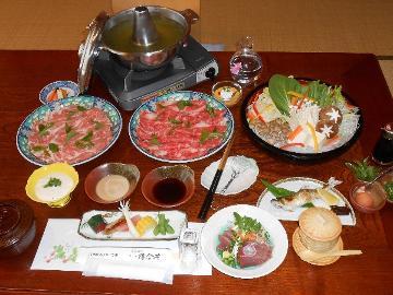 「掛川フレッシュポーク」のお茶しゃぶしゃぶプラン 倉真温泉 落合荘