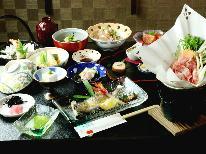 【スタンダード】桜の名所に建つ和風モダンな宿で四季折々の定番料理を味わう♪[1泊2食付]