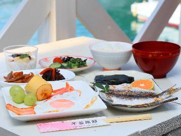 【朝食付き】オーシャンビューのテラスで爽やかに朝食はいかが?朝からちょっといい気分!