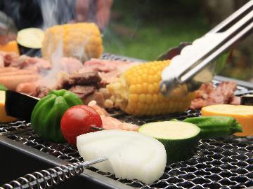 【BBQ】≪飲み放題付≫夕食は石焼きバーベキュー!食材&道具は当館で準備OK!■1泊2食付