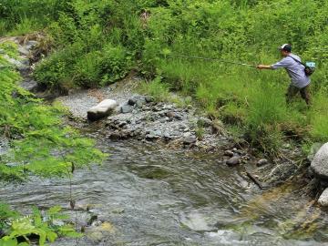 【選べる朝食付き】 渓流釣り&登山など早朝出発に便利♪ 《清流塩川の遊漁券は50%OFF》【体験】